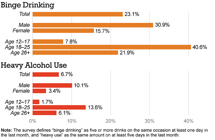 College-age young adults are most likely to abuse alcohol